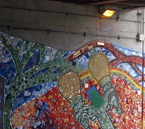 Bricolage mosaic, Bryn Mawr underpass, Lake Shore Drive, Chicago