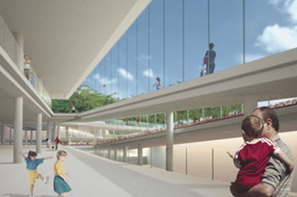 proposed Chicago Children's Museum, Grant Park, Chicago, Krueck and Sexton, architects